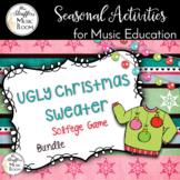 Ugly Christmas Sweater Interactive Solfege Games {Bundle}