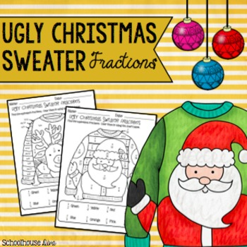 Worksheets Christmas Fractions christmas fractions by schoolhouse diva teachers pay fractions