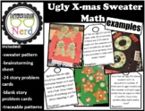 Ugly Christmas Sweater Multiplication and Division Story Problem Art Project