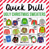 Quick Drill Ugly Christmas Sweaters {for speech therapy or any skill drill}
