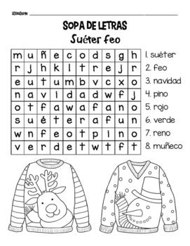 Ugly Christmas Sweater/ Suéter feo de navidad Centers