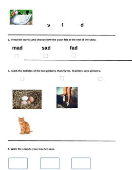 Ugly Duckling Comprehension Assessment