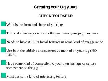 Ugly Face Jugs Worksheet