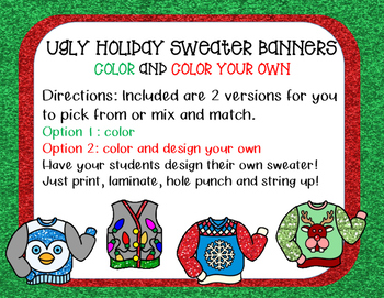 Ugly Holiday Sweater Banner