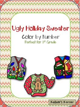 Ugly Holiday Sweater Color by Number