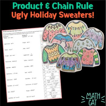 Ugly Holiday Sweaters- Using Chain and Product Rules to Solve Derivatives