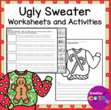 Ugly Holiday or Christmas Sweater Writing and Math Activities