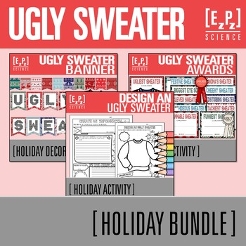 Ugly Sweater Bundle Templates Certificates And Decor By Ezpz Science