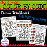 Ugly Sweater-Color By Code Activity for Feelings/Emotions,