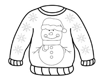 """""""Ugly Sweater"""" Coloring Pages"""
