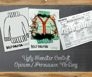 Ugly Sweater Contest Opinion / Persuasive Writing Craft Holiday Christmas