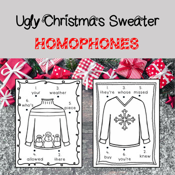 Ugly Sweater Homophones