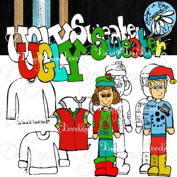 Ugly Sweater Line & Color Art