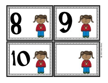 Ugly Sweater Number Cards 0-10