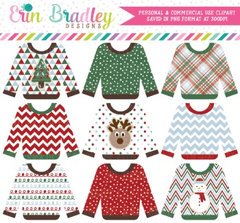 Ugly Sweater Party Clipart