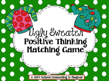 Ugly Sweater Positive Thinking Matching Game