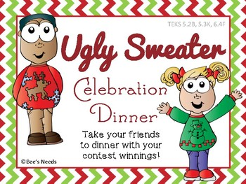 Ugly Sweater Restaurant Budget Activity