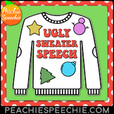 Ugly Sweater Speech & Language Craft for Christmas