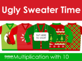 Ugly Sweater Times 10 Multiplication for use with Google Slides