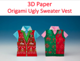 Ugly Sweater-Vest Origami Holiday Shirt