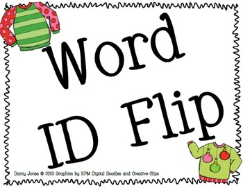 Ugly Sweater Word ID Flip