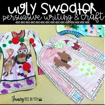 Ugly Christmas Sweater Writing Craftivity