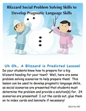 Uh Oh... A Blizzard is Predicted - Problem Solving, Verbs & Processing