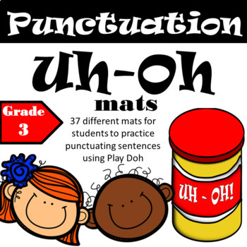Play Doh Punctuation Practice - 3rd Grade
