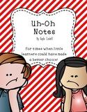 Behavior Notes -- Ink Friendly!