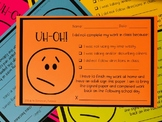 Uh-Oh Parent Communication Form for Missing Work