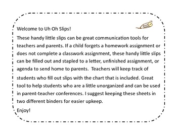 Uh Oh Slips! Classroom Management Tools