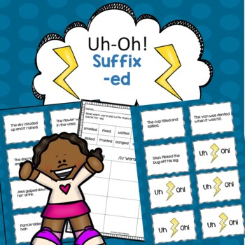Suffix -ed Uh-Oh! Reading Fluency Game