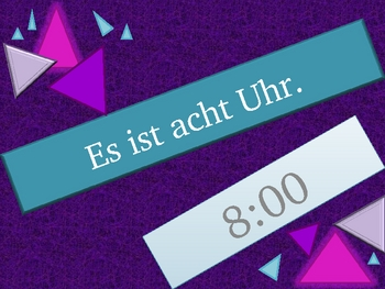 Uhrzeit (Time in German) review game
