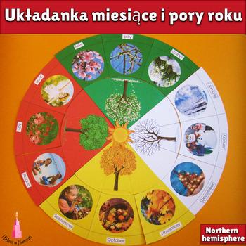 Układanka miesiące i pory roku (Circle of the Year in Polish)