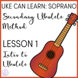 Uke Can Learn: Soprano Ukulele Lesson 1 Intro to Ukulele
