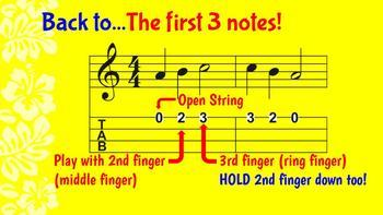 Uke Lessons 1: First 3 notes and reading TAB