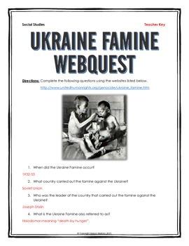Ukraine Famine (Holodomor) - Webquest with Key