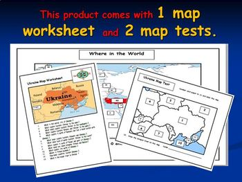 Ukraine Map Product
