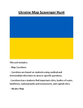 Ukraine Map Scavenger Hunt