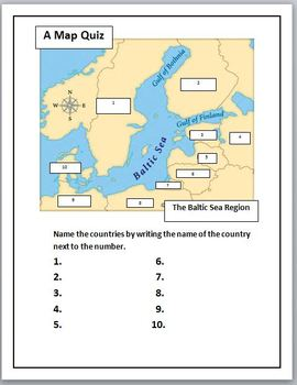 Ukraine and NATO Current Events with Baltic Sea Map Activities