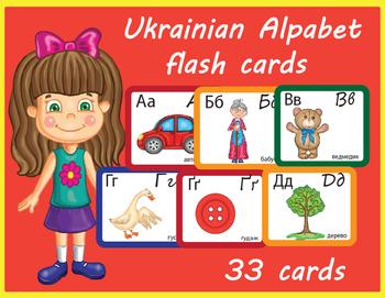 Ukrainian Alphabet Flash Cards