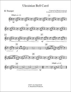 Ukrainian Bell Carol - Brass Quintet