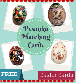 Montessori Ukrainian Pysanka Matching Cards