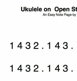 Ukulele: A Folk Tune Duet on Open Strings play along song
