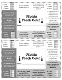 Ukulele Assessment Punch Card