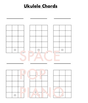 Ukulele Blank Chord Charts & Fretboard Diagrams by ...