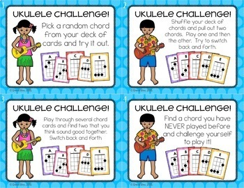 Ukulele Centers and Chord Flash Cards - Music Center Starter