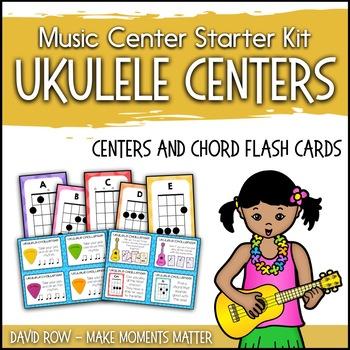 Ukulele Centers and Chord Flash Cards - Music Center Starter