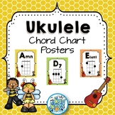 Ukulele Chord Chart Posters - Busy Bee Kids