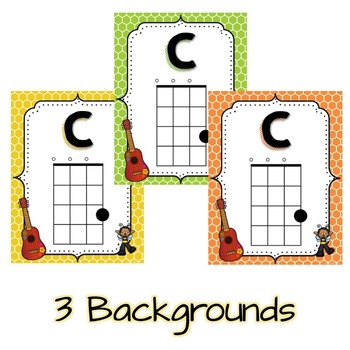 Ukulele Chord Chart Posters  Busy Bee Kids By Sally Utley  Tpt